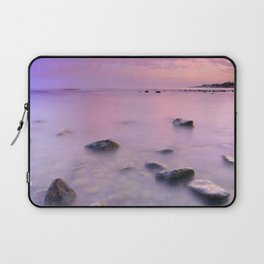 """Pink Sunset. Mediterranean sea."" Laptop Sleeve"