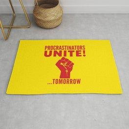Procrastinators Unite Tomorrow (Yellow) Rug