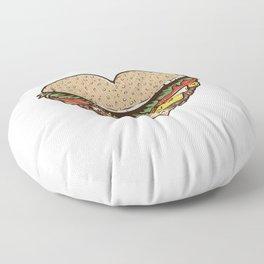 Hamburger Lover Floor Pillow