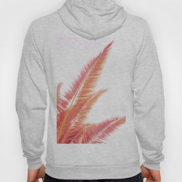 Rose gold sunset palm leaves  Hoody