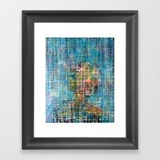 grid portrait Framed Art Print