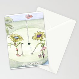 Golfin' in Florida Stationery Cards