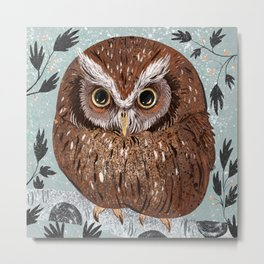 Painted Owl Metal Print