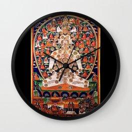 Buddhist Body Mandala Chakra  Wall Clock