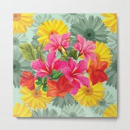 Vibrant Hawaiian Bouquet Metal Print