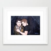 destiel Framed Art Prints featuring Destiel by enerjax