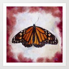 Here I Am Butterfly Art Print