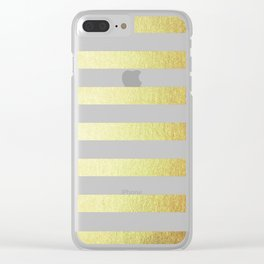 Simply Striped 24K Gold Clear iPhone Case