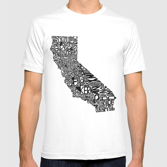 Typographic California T-shirt