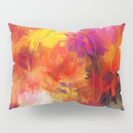 Composition #58 (purple, yellow and red) Pillow Sham