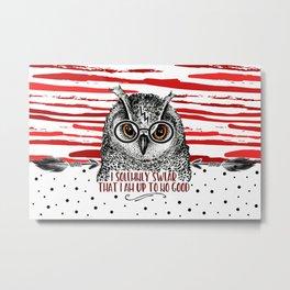 Owl HP swirl Metal Print
