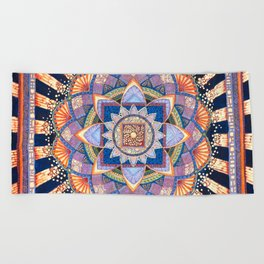 Radiant Light Beams Beach Towel
