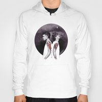 cyrilliart Hoodies featuring The Tiger and The Stag by Cyrilliart