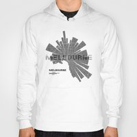 melbourne Hoodies featuring Melbourne Map by Shirt Urbanization