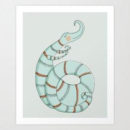 Curlicue Monster Art Print