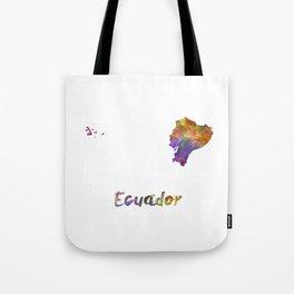 Ecuador in watercolor Tote Bag