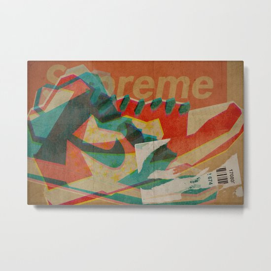 Nike Dunk Hi Pro SB Supreme | Highsnobiety Metal Print