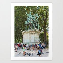 Charlemagne et ses Leudes Art Print