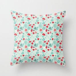 Floral owls Throw Pillow