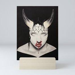 Kicking Crosses Down Mini Art Print