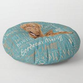 Dogue de Bordeaux Digital Art Floor Pillow