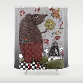 It's a Hedgehog! Shower Curtain