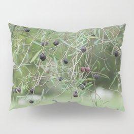Ripe olives on tree Pillow Sham