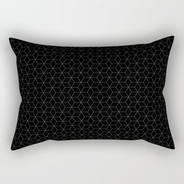 Black Cubes - simple lines Rectangular Pillow