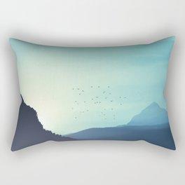 Sundancer - Alpine valley and mountains at sunrise Rectangular Pillow