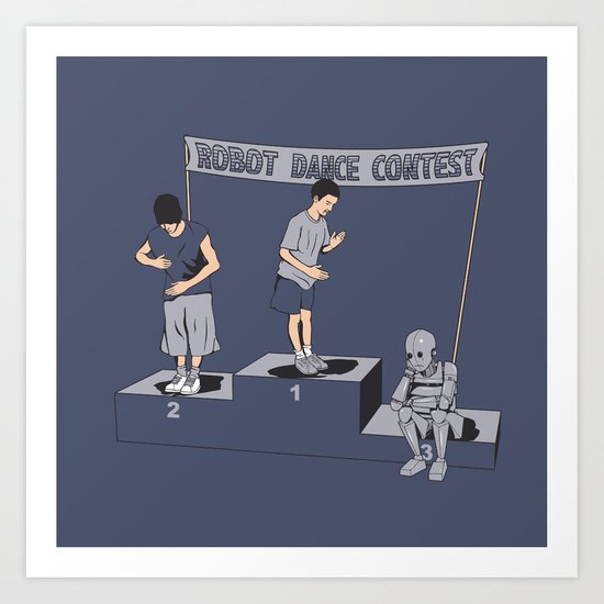 Robot Dance Contest Art Print