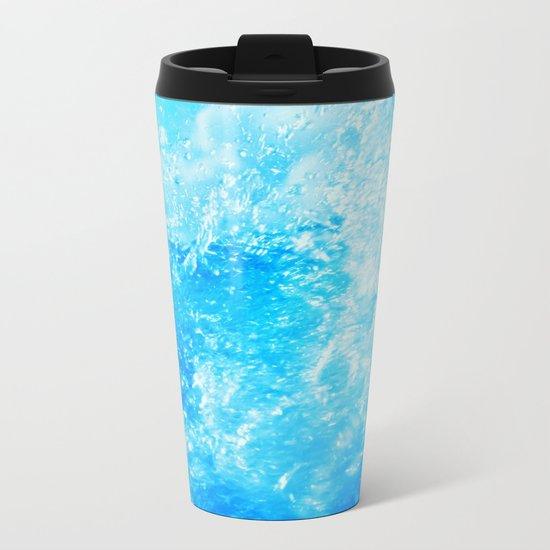 wave Metal Travel Mug