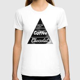 Chocolat pyramid food art print T-shirt