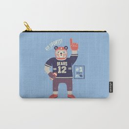 American Football Bear Carry-All Pouch