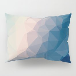 BE WITH ME - TRIANGLES ABSTRACT #PINK #BLUE #1 Pillow Sham