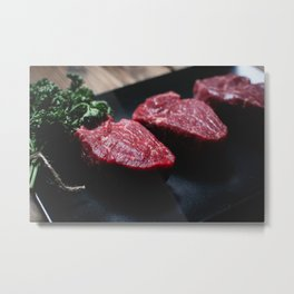 Raw Beef Metal Print