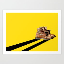 At the end of the road Art Print