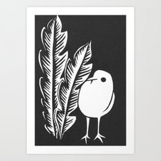 Graphic Bird Art Print