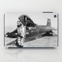 neil gaiman iPad Cases featuring Neil Armstrong by Planet Prints