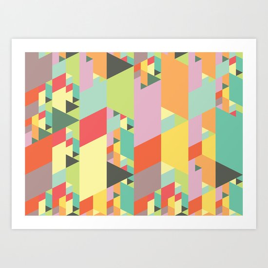 Pastel City Art Print