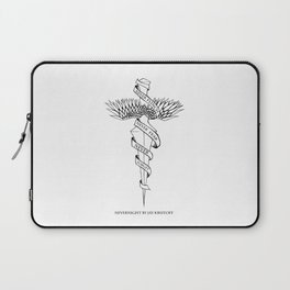 Never Flinch, Never Fear, Never Forget Laptop Sleeve