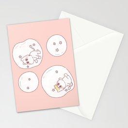 Jugando en Burbujas Stationery Cards
