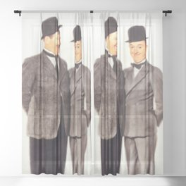 Laurel and Hardy Sheer Curtain