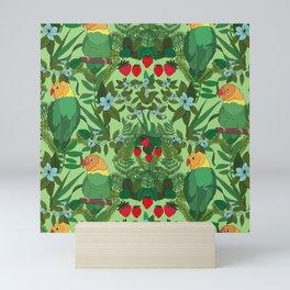 Love Birds - Green Mini Art Print