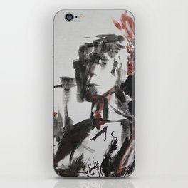 Portrait with Volcanoes iPhone Skin