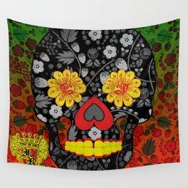 Russian Sugar Skull Wall Tapestry