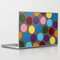polka dots Laptop & iPad Skins featuring Polka dots by Bunyip Designs