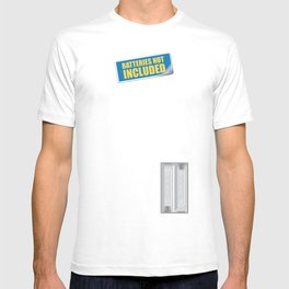Batteries Not Included ~ Medium Carmine T-shirt