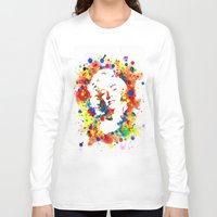 marylin monroe Long Sleeve T-shirts featuring Marylin Monroe by Psyca