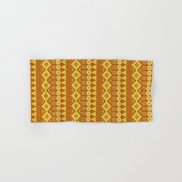 Mudcloth Style 2 in Burnt Orange and Yellow Hand & Bath Towel