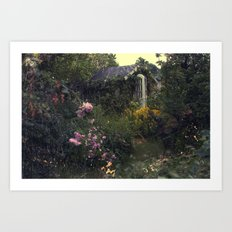 Summerhouse Flower Garden Art Print